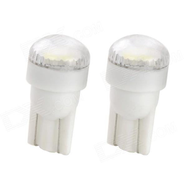 T10 1W 80lm 2-5630 SMD White LED Car Instrument / Reading / License Plate Lamp (2 PCS) festoon 31mm 3w 300lm 6 smd 5630 led white light car reading license plate lamp 12v 2 pcs