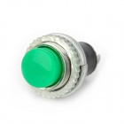 Plastic + Copper Push Button Power Switches - Green (10 PCS)