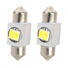 Festoon 31mm 1W 80lm 2-5630 SMD White LED Car Instrument / Clearance / License Plate Lamp (2 PCS)