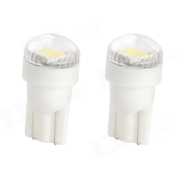 T10 1W 80lm 6000K 2-5630 SMD White LED Car Reading / Instrument / License Plate Lamp (12V / 2 PCS) t10 1w 80lm 6000k 2 5630 smd white led car reading instrument license plate lamp 12v 2 pcs