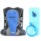 ACACIA 04119002 Cycling Camping Hiking Backpack + Water Bag - Blue + Grey + Black (10L + 1L)
