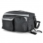 ACACIA 0465 2-in-1 Cycling One-Shoulder Back Seat Bag - Black + Grey