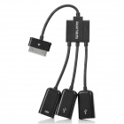 3-in-1  30 Pin Male to USB Female OTG Hub Cable for Samsung Galaxy Tab  - Black + White