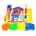 Electric Domino Rally Plastic Train w/ Arch Bridge Set - Multicolored