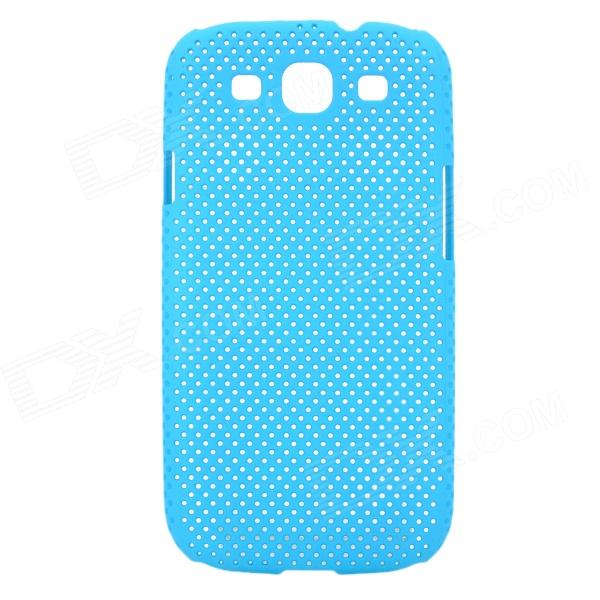 Stylish Mesh Style Protective Plastic Back Case for Samsung Galaxy S3 i9300 - Light Blue fashionable protective bumper frame case with bowknot for samsung galaxy s3 i9300 black