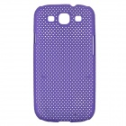 Mesh Protective ABS Case for Samsung Galaxy S3  i9300 - Purple