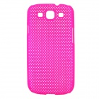 Stylish Mesh Style Protective Plastic Back Case for Samsung Galaxy S3 i9300 - Deep Pink