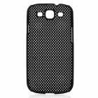 Mesh Protective ABS Case for Samsung Galaxy i9300 S3 - Black