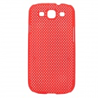 Stylish Mesh Style Protective Plastic Back Case for Samsung Galaxy S3 i9300 - Red