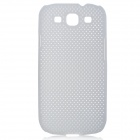Stylish Mesh Style Protective Plastic Back Case for Samsung Galaxy S3 i9300 - White