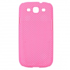 Stylish Mesh Style Protective Plastic Back Case for Samsung Galaxy S3 i9300 - Pink