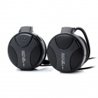 Ear-Hook MP3 Player Headset w/ FM / TF / 3.5mm Jack - Black
