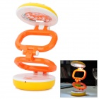 Hamburger Style 800mAh Rechargeable 22-LED White Light Lamp - Orange (US Plug / AC 110~220V)