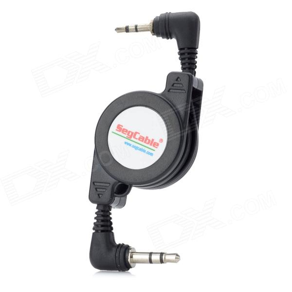 Mosquito segcable 3.5mm macho a 2.5mm cabo de áudio retrátil masculino - preto (75cm)