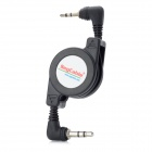 SegCable Moskye 3.5mm Male to 2.5mm Male Retractable Audio Cable - Black (75cm)