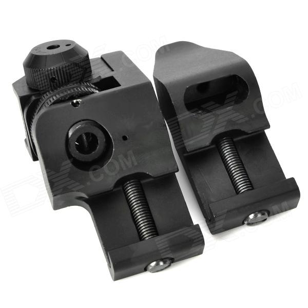 Dueck RTS Oblique Shooting Front + Rear Sights for M4 / M16 - Black (Pair)