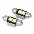 Festoon 31mm 1W 24lm 2-SMD 5050 LED branco luz da cúpula do carro (12V / 2 PCS)