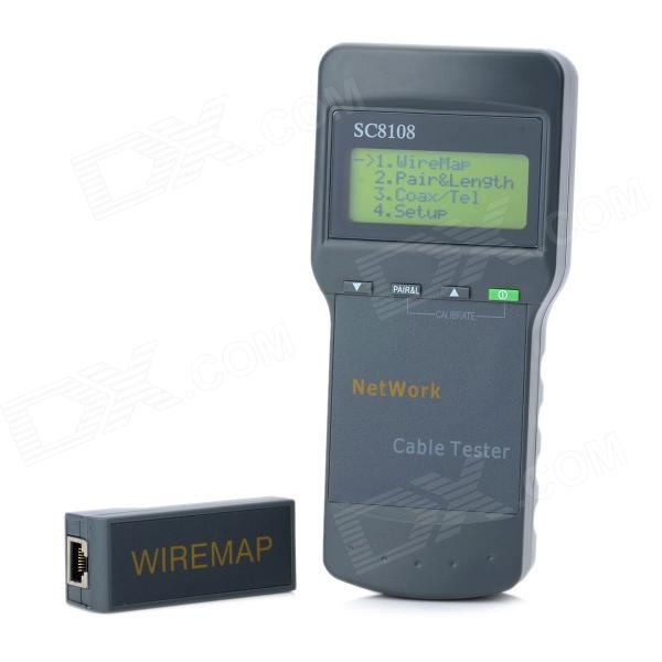 SC8108 2.5 Display Telephone Line / Coaxial Cable Tester - Grey (4 x AA)