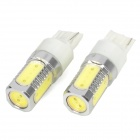 T20 7.5W 160lm 5-LED White Light Car Backup Lamp (12~24V / 2 PCS)