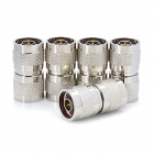 RF N Male to N Male Adapters Set - Silver (5 PCS)