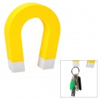 """U"" Shaped ABS + Magnet Keys Hanging Toy w/ Self-Adhesive Tape - Yellow"
