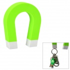 """U"" Shaped ABS + Magnet Keys Hanging Toy w/ Self-Adhesive Tape - Green"
