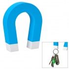 """U"" Shaped ABS + Magnet Keys Hanging Toy w/ Self-Adhesive Tape - Blue"