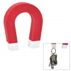 """U"" Shaped ABS + Magnet Keys hängen Spielzeug w / Self-Adhesive Tape - Red"