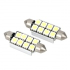 Festoon 42mm 4W 96lm 8-SMD 5050 LED White Car Decoration Light (12V / 2 PCS)