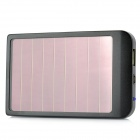 P1100 Solar Powered 2600mAh External Battery Pack w/ Adapters for Cell Phone + More - Black