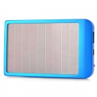 P1100 Solar Powered 2600mAh External Battery Pack w/ Adapters for Cell Phone + More - Blue