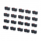 DIY Mini 3 Pin Micro Switches - Black (AC 250V / 20 PCS)