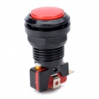 DIY 4-Pin Power Control Switch Button - Black + Red (DC 12V)