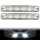 5W 6000K 450lm 5-LED White Light Daytime Running Light / Fog Light - (DC 12~24V / 2 PCS)