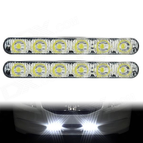 BF-D12082107X 12W 6000K 931lm 6-LED White Light Daytime Running Light for Car - (DC 12V / 2 PCS) tcart 2x auto led light daytime running lights turn signals for toyota prius highlander for prado camry corolla t20 wy21w 7440