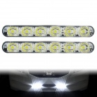 BF-D12082107X 12W 6000K 931lm 6-LED White Light Daytime Running Light for Car - (DC 12V / 2 PCS)
