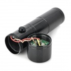 Mini 8-LED 30lm White Light Flashlight w/ 5mW Red Laser - Black (3 x AAA)