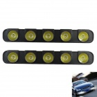 BF-D12082109X 7.5W 7500K 400lm 5-LED White Light  Daytime Running Light for Car - (DC 12V / 2 PCS)