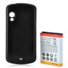Replacement 3.7V 3800mAh Extended Battery w/ Back Cover Case for Samsung i405 - Black