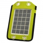 LX-020 Portable 2.5W Solar Plate Charger w/ 5 Adapters - Light Green (5V / 410mA)