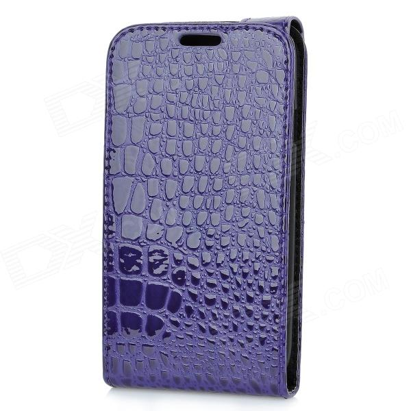 Alligator Pattern Protective Top Flip-Open PU Leather Case for Samsung i9300 Galaxy S3 - Purple alligator pattern protective flip open pu leather case for samsung galaxy s4 mini i9190 white