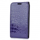 Alligator Pattern Protective Top Flip-Open PU Leather Case for Samsung i9300 Galaxy S3 - Purple