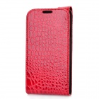 Alligator Pattern Protective PU Leather Cover Case for Samsung i9300 - Red