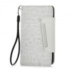 Protective PU Leather + ABS Case w/ Card Slots for Samsung i9100- White