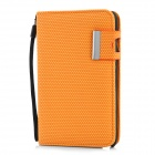 Football Pattern Protective PU Leather Case for Samsung Galaxy Note i9220 - Orange