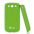 Creative Protective PC Case w/ Magnetic Back Cover Stand Holder for Samsung Galaxy S3 i9300 - Green