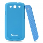 Creative Protective PC Case w/ Magnetic Back Cover Stand Holder for Samsung Galaxy S3 i9300 - Blue