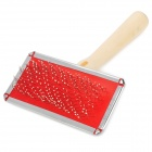 Pet Dog Grooming Brush - Red + Silver