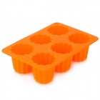 Jelly Shaped Ice Cube Tray Mold - Orange