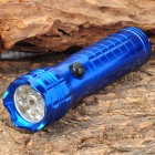 Stylish 30LM White 8-LED Water Resistant Flashlight w/ Red Laser Light - Blue (3 x AAA)